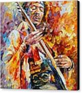 Jimi Hendrix Canvas Print by Leonid Afremov
