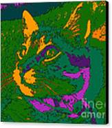 Jungle Cat Canvas Print by Hanza Turgul