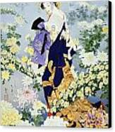 Kiku Canvas Print by Haruyo Morita