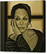 Kristin Scott Thomas Canvas Print by Paul Meijering