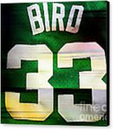 Larry Bird Canvas Print by Marvin Blaine