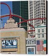 Las Vegas - New York New York Casino - 12128 Canvas Print by DC Photographer