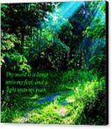 Light Unto My Path Canvas Print by Thomas R Fletcher