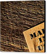 Made In Usa Canvas Print by Olivier Le Queinec