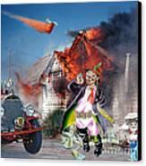 Mario Moreno As Cantinflas In El Bombero Atomico  Canvas Print by Jim Fitzpatrick