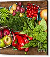 Market Fruits And Vegetables Canvas Print by Elena Elisseeva