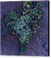 Mechanical - Heart Canvas Print by Fran Riley