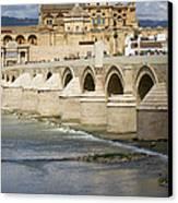 Mezquita And Roman Bridge In Cordoba Canvas Print by Artur Bogacki