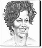 Michelle Obama Canvas Print by Murphy Elliott