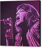 Mick Jagger Canvas Print by Paul Meijering