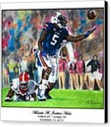 Miracle At Jordan-hare Canvas Print by Lance Curry
