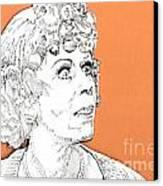 momma on Orange Canvas Print by Jason Tricktop Matthews