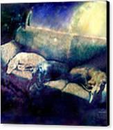 Nap Time Dreams Canvas Print by YoMamaBird Rhonda
