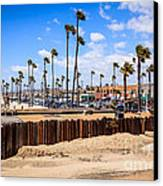 Newport Beach Dory Fishing Fleet Market Canvas Print by Paul Velgos
