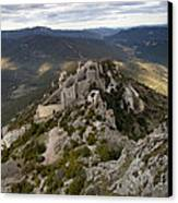 Peyrepertuse Castle Canvas Print by Ruben Vicente