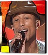 Pharrell Williams Canvas Print by Marvin Blaine