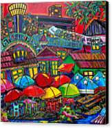 Playing Tourist Canvas Print by Patti Schermerhorn