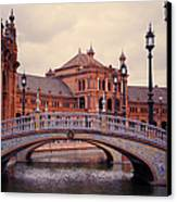 Plaza De Espana. Seville Canvas Print by Jenny Rainbow