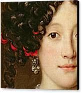 Portrait Of A Woman Canvas Print by Jacob Ferdinand Voet