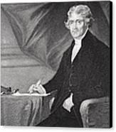 Portrait Of Thomas Jefferson Canvas Print by Alonzo Chappel