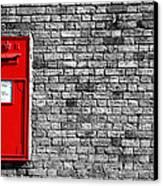 Post Box Canvas Print by Mark Rogan