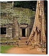 Preah Khantemple At Angkor Wat Canvas Print by Sami Sarkis