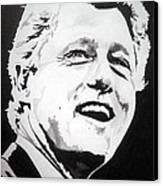 President William Clinton Canvas Print by Robert Lance