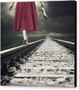 Railway Tracks Canvas Print by Joana Kruse