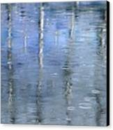 Raindrops On Reflections Canvas Print by KM Corcoran