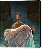 Resurrection Canvas Print by Mia Tavonatti