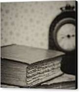 Retro Setting And Effect Of Antique Vintage Books Canvas Print by Matthew Gibson