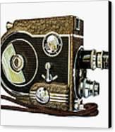 Revere 8 Movie Camera Canvas Print by Jon Woodhams