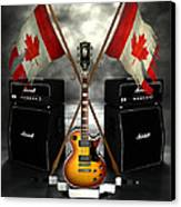 Rock N Roll Crest - Canada Canvas Print by Frederico Borges