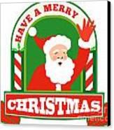 Santa Claus Father Christmas Retro Canvas Print by Aloysius Patrimonio