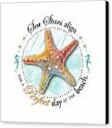 Sea Stars Align For A Perfect Day At The Beach Canvas Print by Amy Kirkpatrick