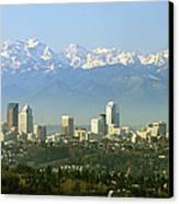 Seattle Skyline Canvas Print by King Wu