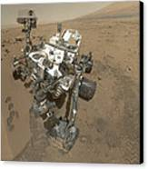 Self-portrait Of Curiosity Rover Canvas Print by Stocktrek Images