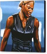 Serena Williams Canvas Print by Paul Meijering