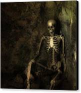 Skeleton Canvas Print by Amanda And Christopher Elwell