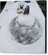 Snow Fall Serie December 2012  Canvas Print by Colette V Hera  Guggenheim