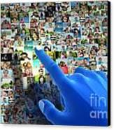 Social Media Network Canvas Print by Michal Bednarek