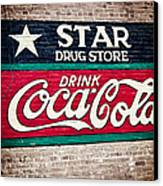 Star Drug Store Wall Sign Canvas Print by Scott Pellegrin