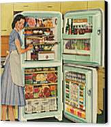 Stor-mor  1950s Uk Fridges Freezers Canvas Print by The Advertising Archives