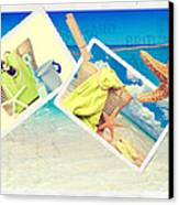 Summer Postcards Canvas Print by Amanda Elwell