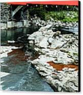 Taftsville Covered Bridge Vermont Canvas Print by Edward Fielding
