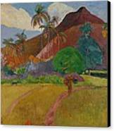 Tahitian Landscape Canvas Print by Paul Gauguin