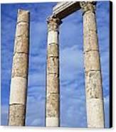 The Temple Of Hercules In The Citadel Amman Jordan Canvas Print by Robert Preston
