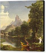 The Voyage Of Life Youth Canvas Print by Thomas Cole