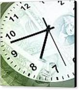 Time Is Money Canvas Print by Les Cunliffe