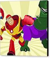 Toy Story Avengers Canvas Print by Lisa Leeman